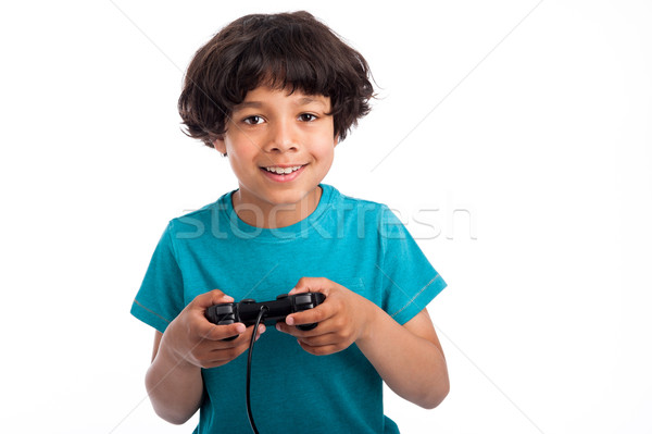 Cute Mixed Race Gamer. Stock photo © SLP_London