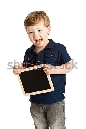 Boy holding Chalk Board Stock photo © SLP_London