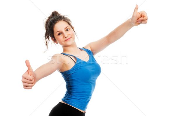 Joli adolescente geste souriant Photo stock © SLP_London