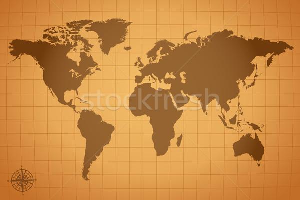 ヴィンテージ 地図 実例 市 抽象的な 芸術 ストックフォト © smarques27