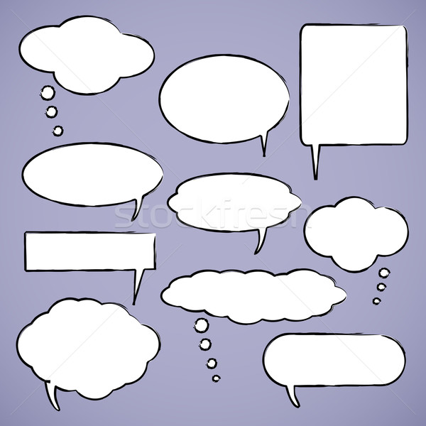 Chat bubbles vector illustration Stock photo © smarques27
