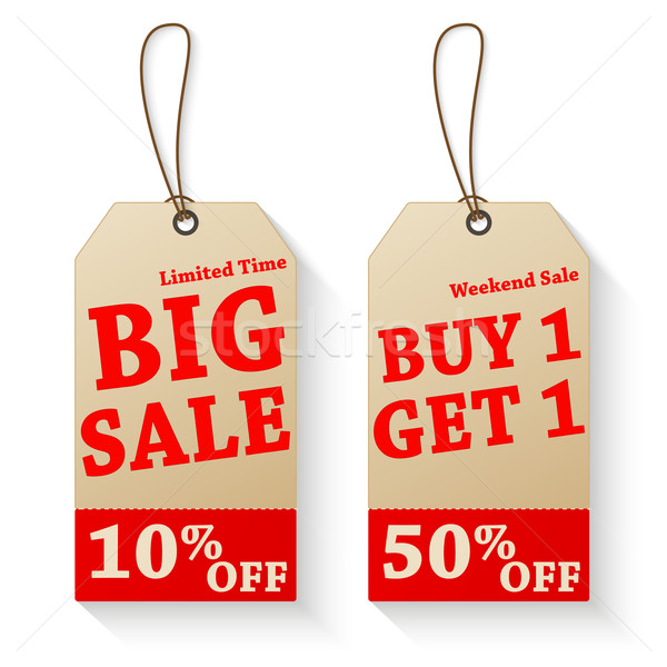 Vintage vector sale tags Stock photo © smarques27