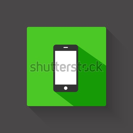 Smartphone long shadow illustration Stock photo © smarques27