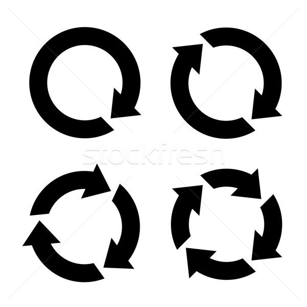 Four arrow icon vector set Stock photo © smarques27