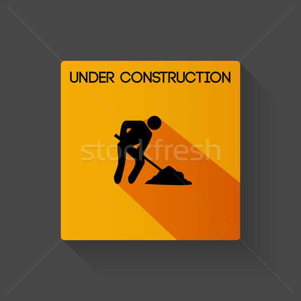 Under construction long shadow illustration Stock photo © smarques27