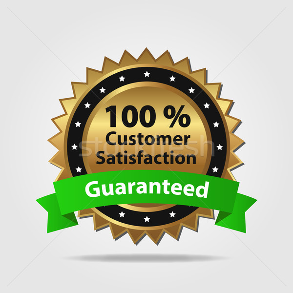 Green and Gold Customer Satisfaction Guarantee Stock photo © smarques27