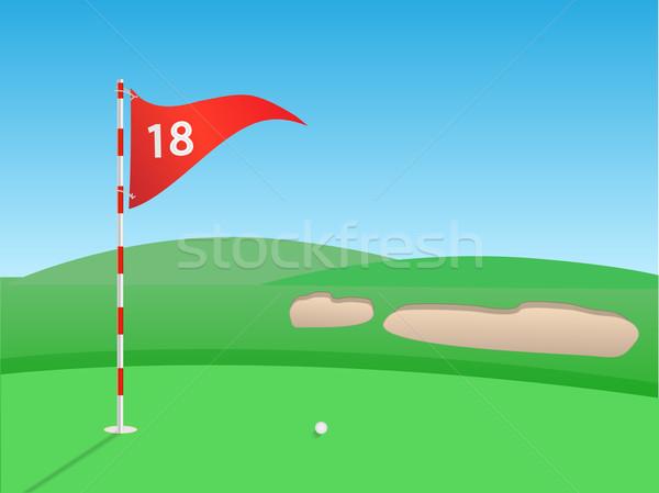 ゴルフ シーン 屋外 草 スポーツ 自然 ストックフォト © smarques27