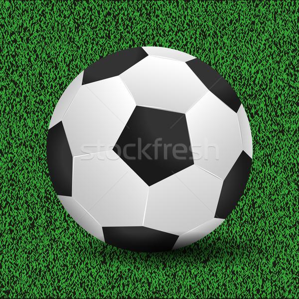 サッカーボール デザイン サッカー 夏 黒 革 ストックフォト © smarques27
