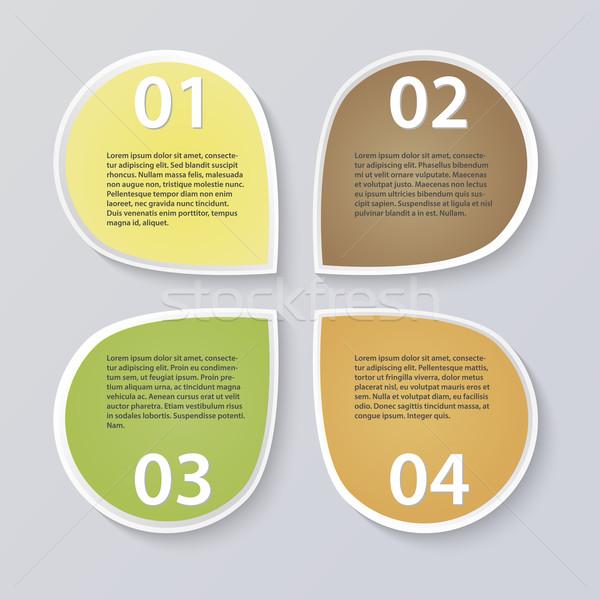 Modern infographics illustration Stock photo © smarques27