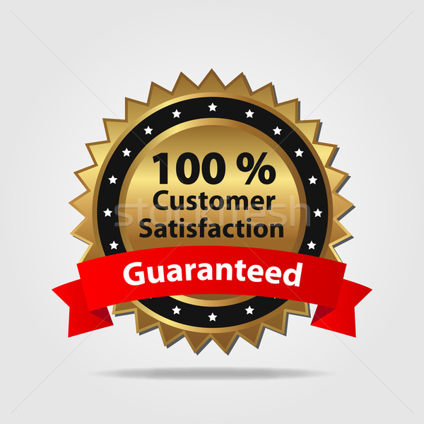 Red and Gold Customer Satisfaction Badge Stock photo © smarques27