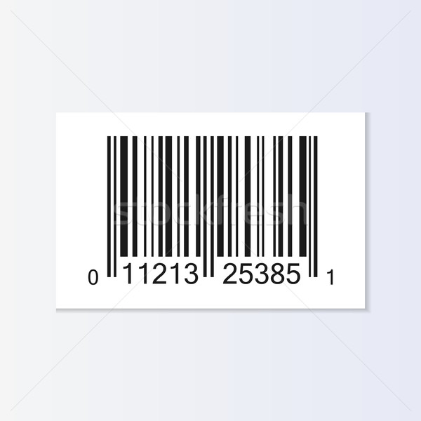 Barkod etiket örnek yalıtılmış iş tıbbi Stok fotoğraf © smarques27
