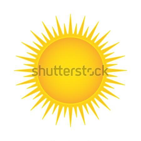 太陽 孤立した 火災 芸術 オレンジ ウェブ ストックフォト © smarques27