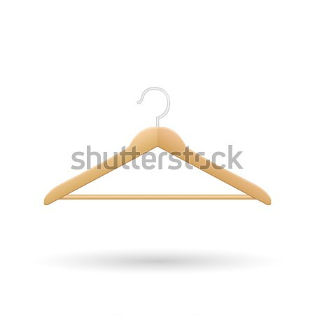 Wooden Hanger Vector Illustration Stock photo © smarques27