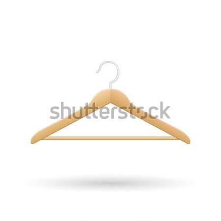 木製 ハンガー 孤立した ルーム グループ ライト ストックフォト © smarques27