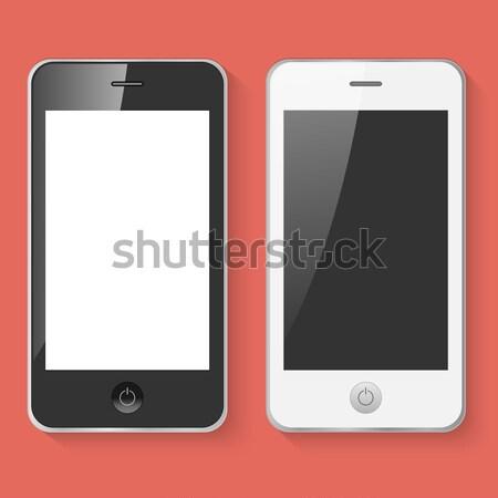 携帯 スマート 電話 黒白 孤立した インターネット ストックフォト © smarques27