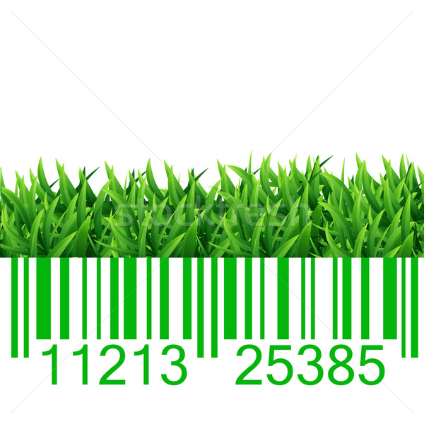 Bar code grass illustration Stock photo © smarques27