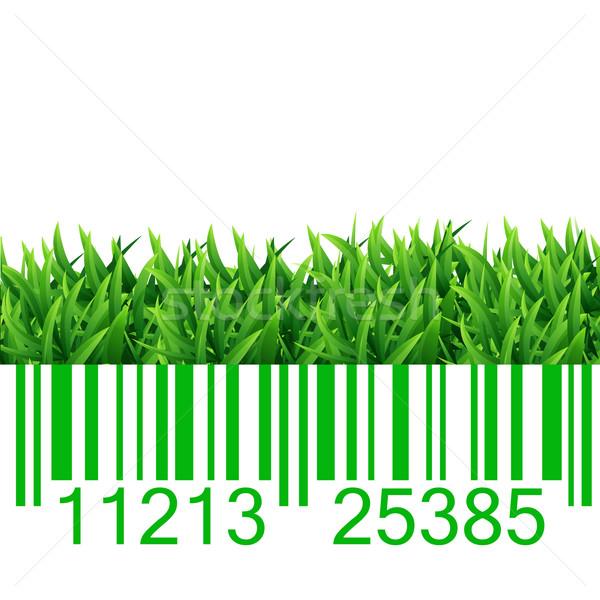 Barkod çim örnek iş bilgisayar doğa Stok fotoğraf © smarques27