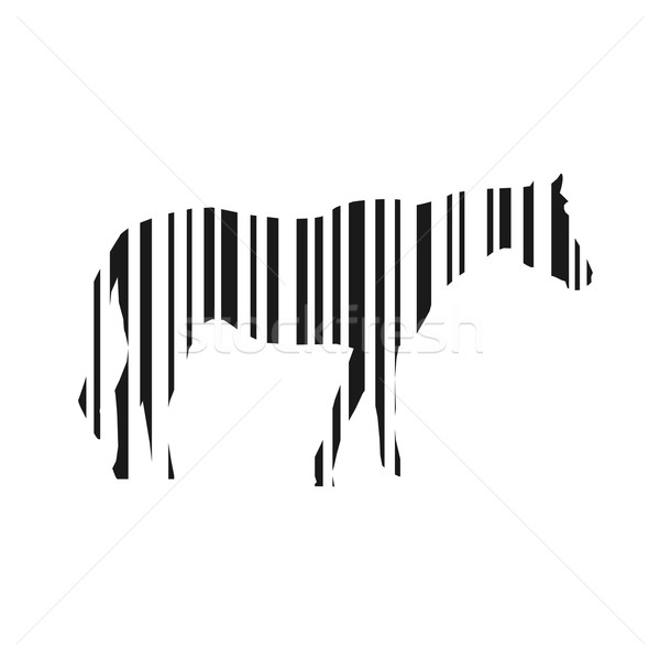 Barcode horse illustration Stock photo © smarques27