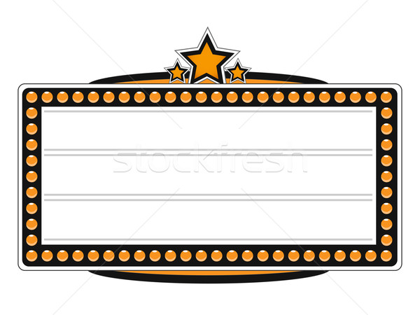 Blank Cinema Billboard Vector Design Stock photo © smarques27