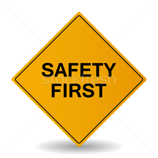 Safety First Vector Sign Stock photo © smarques27