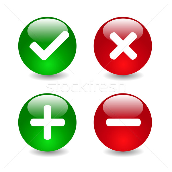 Stock photo: Check mark icons illustration