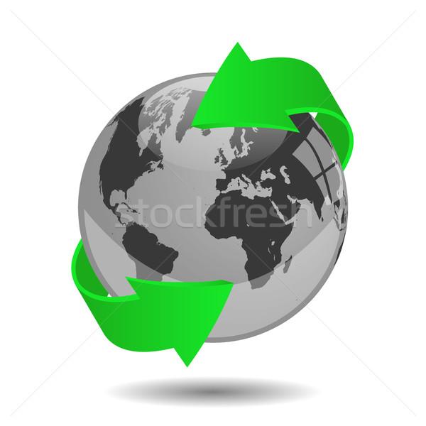 Earth globe vector illustration Stock photo © smarques27
