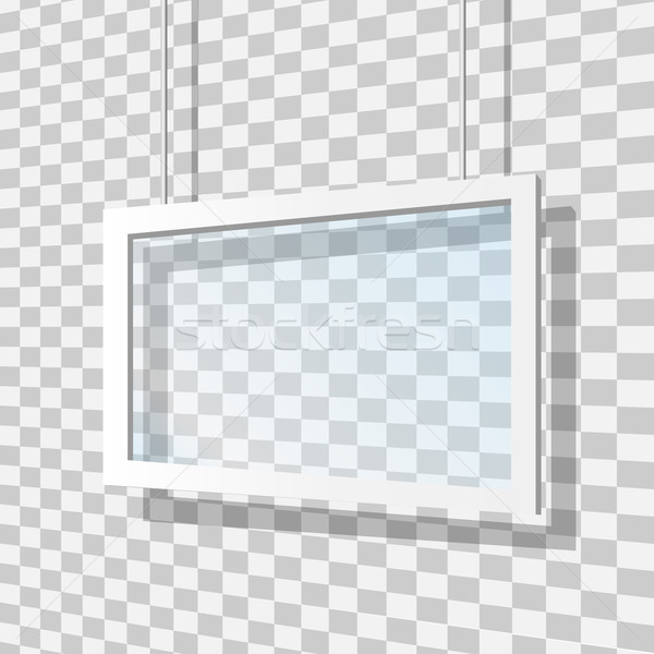 Glass Frame Vector Illustration Stock photo © smarques27