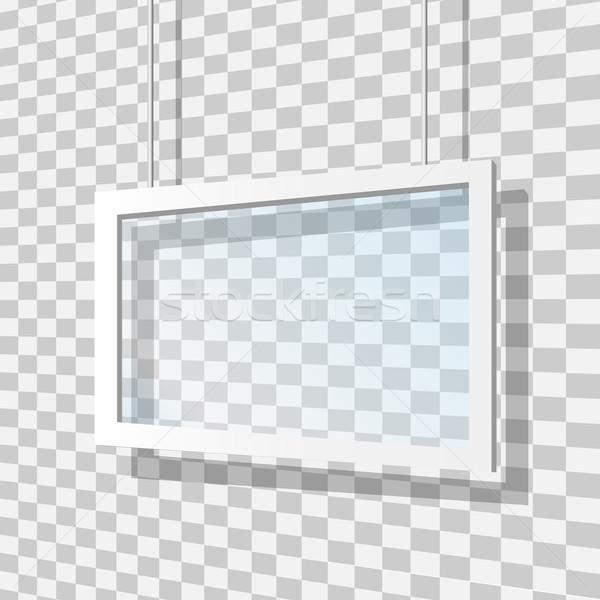 ガラス フレーム テクスチャ 抽象的な デザイン 背景 ストックフォト © smarques27