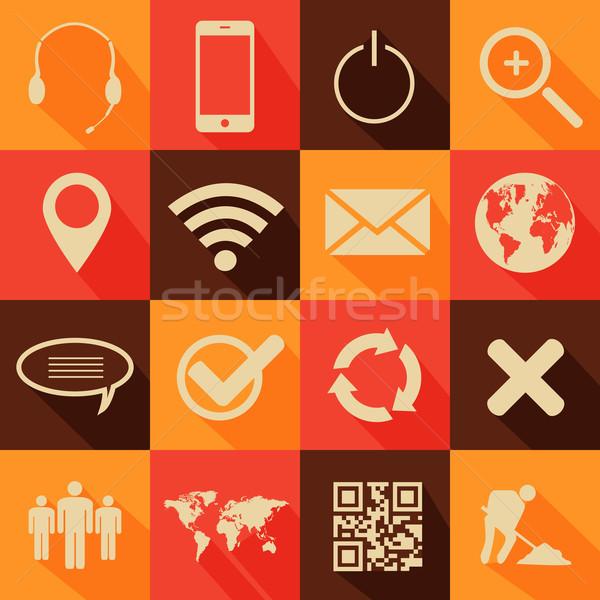 レトロスタイル ウェブ 携帯 アイコン 電話 ストックフォト © smarques27