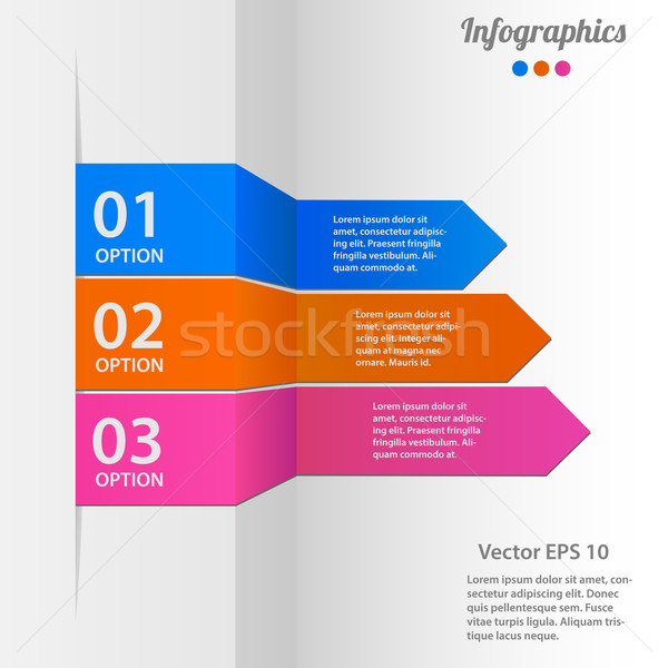 Business infographics vector illustration Stock photo © smarques27
