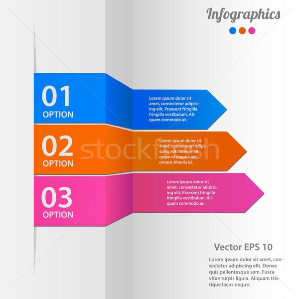 ビジネス インフォグラフィック 紙 マネージャ カード パターン ストックフォト © smarques27