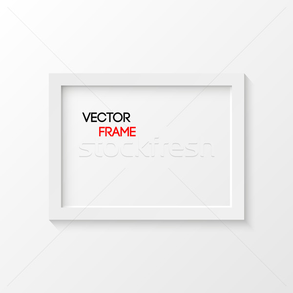 White Frame Vector Illustration Stock photo © smarques27
