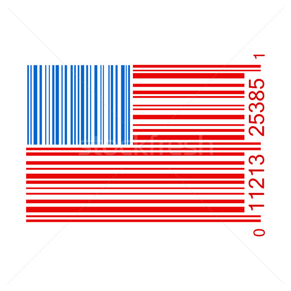 United States Bar Code Illustration Stock photo © smarques27