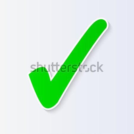 チェック マーク 孤立した デザイン クロス 白 ストックフォト © smarques27