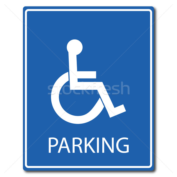 Handicap parking signe médicaux fond aider Photo stock © smarques27