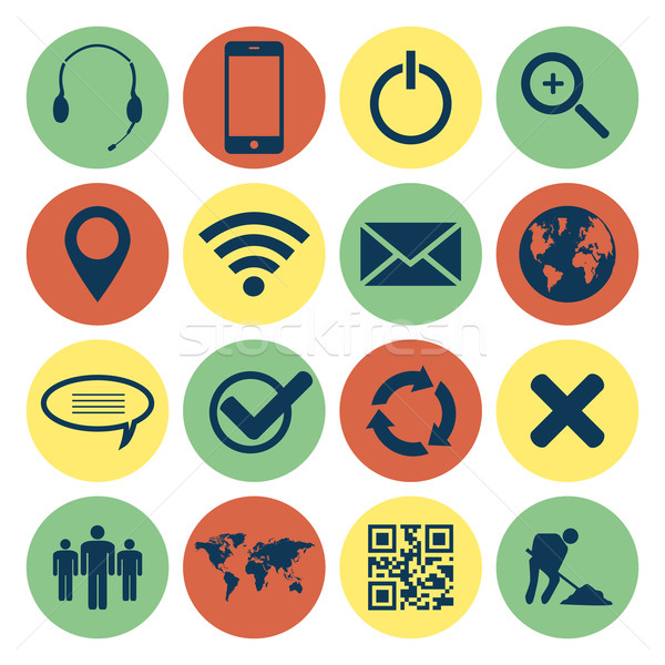 Retro Web  and Mobile Icons Stock photo © smarques27