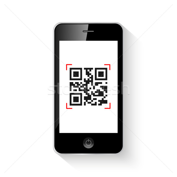 Mobile smart phone qr code Stock photo © smarques27