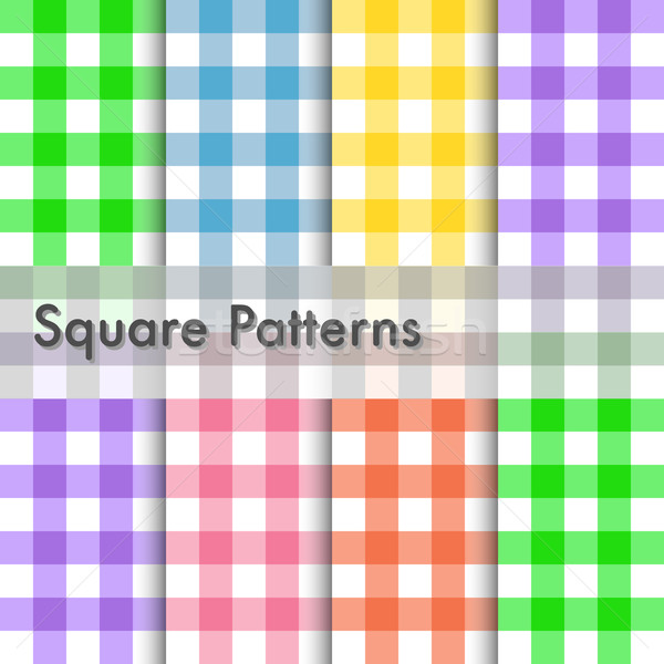 Square patterns illustration Stock photo © smarques27