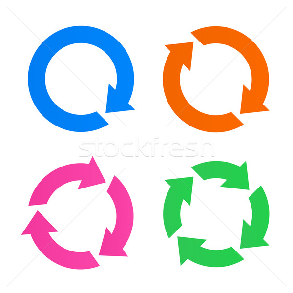 Colorful arrow reload icons Stock photo © smarques27