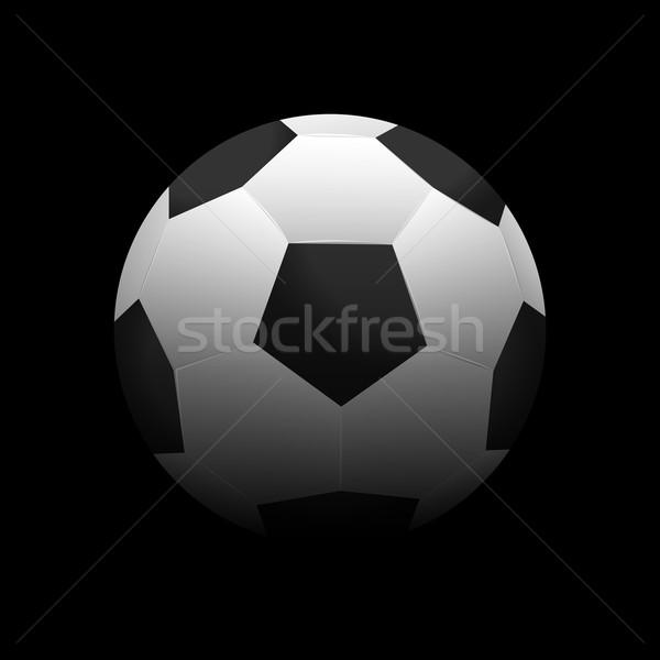 サッカーボール 実例 暗い スポーツ ボール 黒 ストックフォト © smarques27