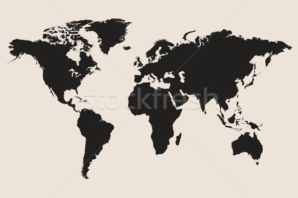 世界地図 コンピュータ 地図 教育 海 旅行 ストックフォト © smarques27