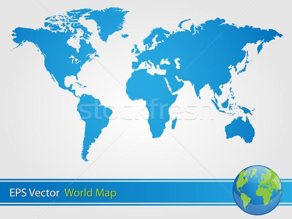 青 世界地図 実例 ビジネス 市 地図 ストックフォト © smarques27