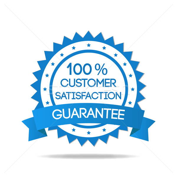 Blue Customer Satisfaction Badge Stock photo © smarques27
