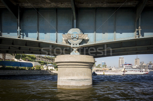 Köprü destek detay Kahire Mısır su Stok fotoğraf © smartin69