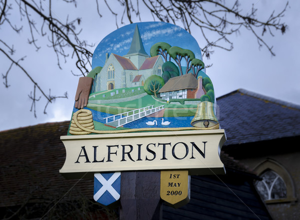 Alfriston Village Sign Stock photo © smartin69