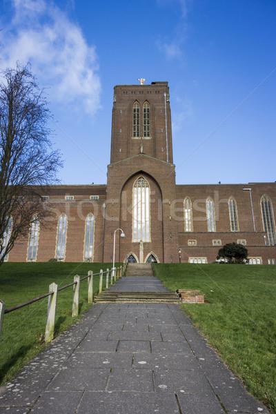 Katedral yol adımlar portre format Stok fotoğraf © smartin69