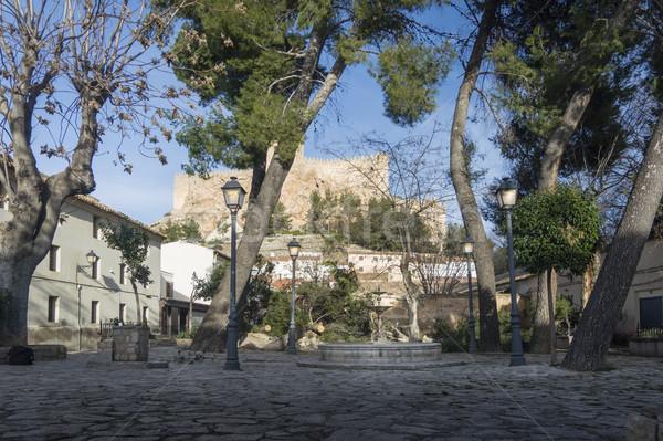 Kare İspanya ağaçlar ülke tarih heykel Stok fotoğraf © smartin69