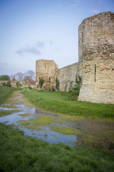 Pevensey Castle Ruins, Sussex, UK Stock photo © smartin69