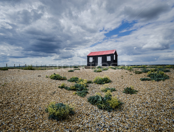 çavdar liman görmek siyah kırmızı çatı Stok fotoğraf © smartin69