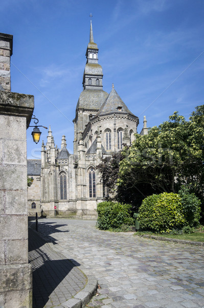 Church in the City of Dinan, Brittany, France Stock photo © smartin69